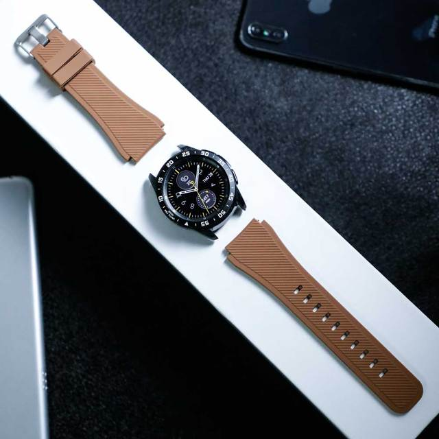 Gear S3 Frontier band for Samsung Galaxy watch 46mm 42mm  strap 22mm 20mm Silicone watchband Bracelet Huawei watch GT strap S3 4
