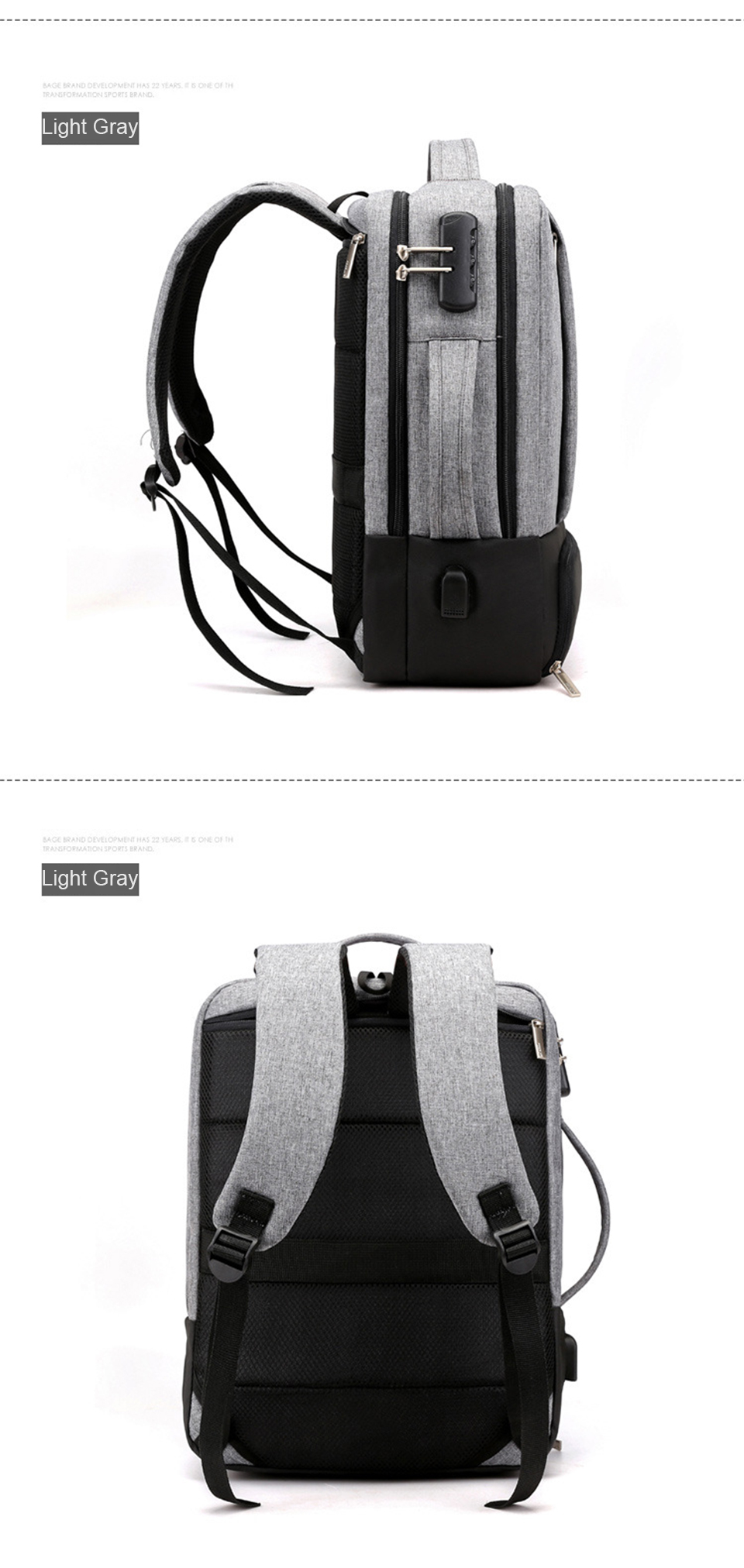 Mens Backpack Laptop Backpacks 17 Inch 15.6'' Anti Theft Male Business Bags Notebook Trip Back Pack Office Women Travel Bagpack (14)