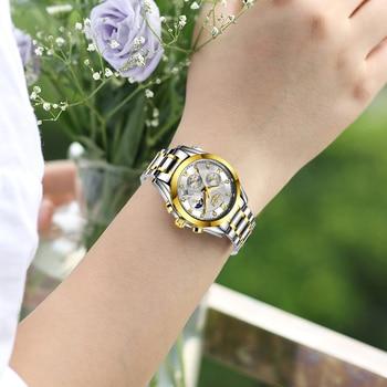 LIGE 2021 New Gold Watch Women Watches Ladies Creative Steel Women's Bracelet Watches Female Waterproof Clock Relogio Feminino 2