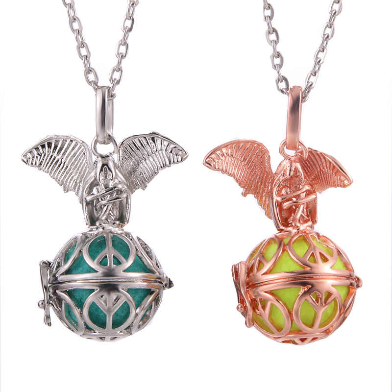 Mexico Chime Demon Music Angel Ball Caller Perfume Locket Pendant Vintage Necklace For Aromatherapy Essential Oil Box Women