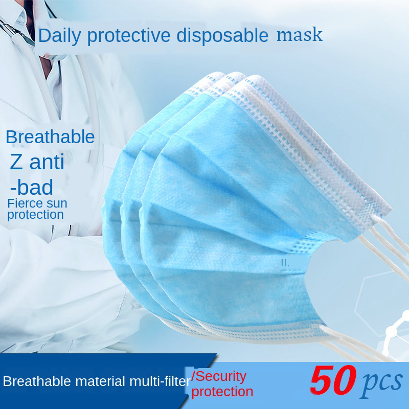 Face Mouth Mask Men Women Adult Disposable Anti-virus Protection Mask 3 Layers Fiter Dustproof Earloop Non Woven Cover Face Mask