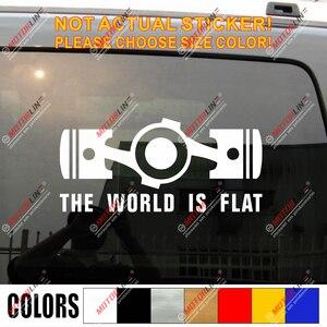El mundo es plano caja Boxer motor plano calcomanía de coche de vinilo de la etiqueta engomada de Subaru STI WRX