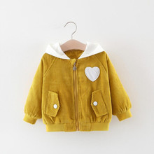 цена на New Autumn Winter Girls Coat Cotton Girls Jacket Girls Clothes Coat Casual Hooded Kids Outerwear