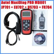 Autel – lecteur de Code MaxiDiag PRO MD801 4 en 1, JP701 + EU702 + US703 + FR704, 2012