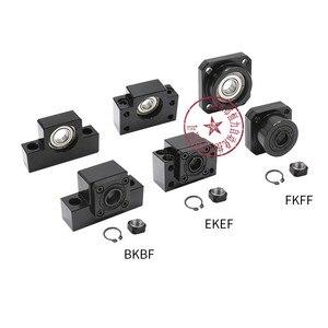 linear bearing block BKBF10 BKBF12 BKBF15 BKBF20 BKBF25 EKEF12 EKEF15 EKEF20 FKFF10 FKFF12 FKFF15 FKFF20 for ball screw sfu1605(China)