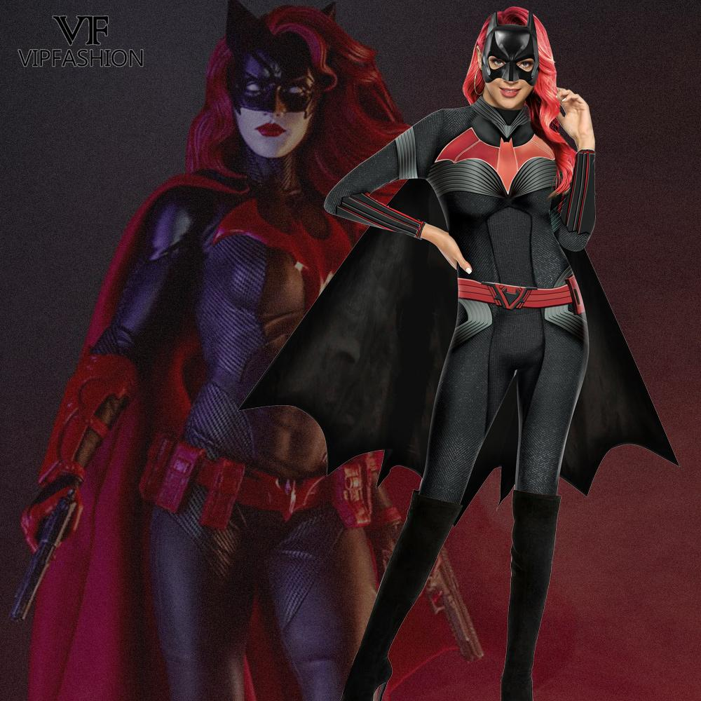 VIP FASHION TV Batwoman Cosplay Costume Catherine Hamilton Kate Kane Costume Adult DC Comics Superhero Outfit Cosplay Jumpsuit