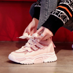 Image 3 - النساء حذاء كاجوال شبكة أحذية رياضية للنساء منصة الشقق أحذية مكتنزة ماركة فاخرة تنفس مريحة الإناث الأحذية Mujer