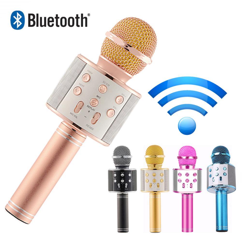 High Sound Quality Bluetooth Wireless Microphone Karaoke MIC - KTV Music Player Singing Recorder Handheld Microphone Mic 1800Mah