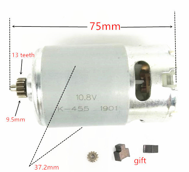 13 Teeth Motor 10.8V 12V Replace For BOSCH GSR10.8-2-LI  GSR12-2-LI GSR10.8V-LI GSR120-LI PS21 GSR10.8V-LI-2 RS550VC-8518 8022