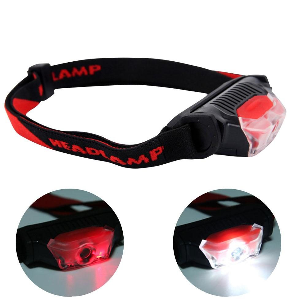 Multifunction LED Headlight 4 Modes Mini Head Lamp Waterproof LED Headlights White Red Flashlight Headlamp Torch With Headband