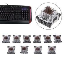 10 шт. 3 контакт колпачки коричневый механический клавиатура переключатель для Cherry MX клавиатура 85WD