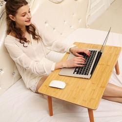Ergonomia regulowane biurko na laptopa czysty z żółtego stół bambusowy składany łóżeczko śniadaniowe przytulny stół