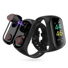 New Smart Watch with Bluetooth Earphones Sport Watc
