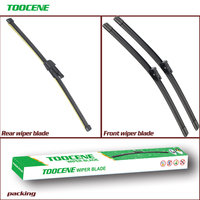 Front And Rear Wiper Blades For Skoda Rapid 2012 -2018 Rubber Windshield Windscreen Wiper Auto Car Accessories 24+16+16