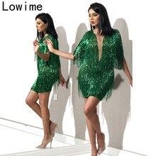 Plus Size Green Middle East Cocktail Dress 2019 Mermaid Mini Prom Dress Dubai Women Party Gowns vestidos de fiesta de noche
