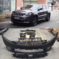 SRT8 Style High quality PP unpainted Front rear bumper side skirts wheel eyebrow For Jeep Grand Cherokee Car body kit