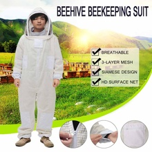 Professional 3 Layers Ventilated Beehive Beekeeping Suit with Veil Professional Anti Bee Protective Supplies Equipment