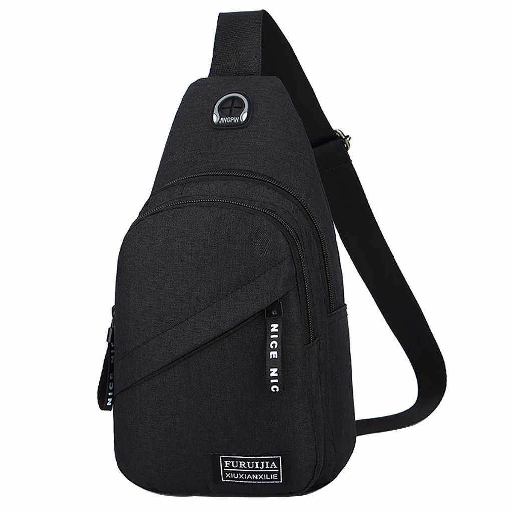 Moda saco da cintura dos homens oxford pano distintivo saco de peito selvagem pequeno saco de moda bolsos de viagem sacos portáteis chestbags