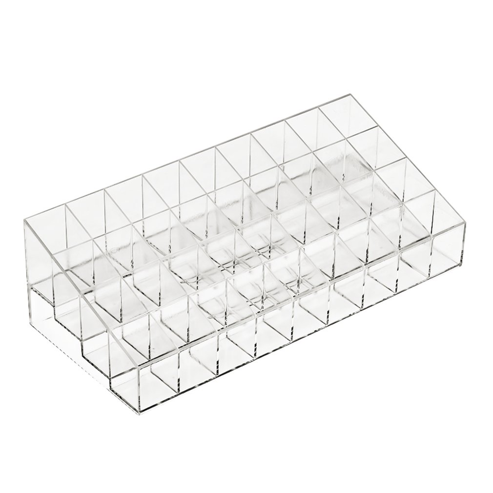 New 36 Grid Transparent Lipstick Mascara Holder Cosmetic Organiser Display Rack Top Quality