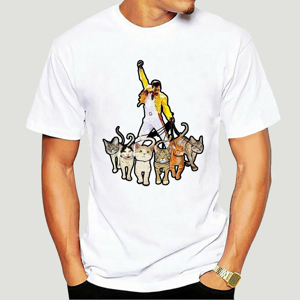 Freddie Mercury Queen And Cat Lovers T Shirt 2456A