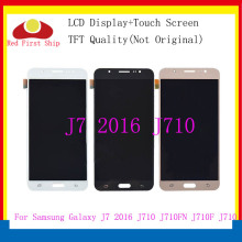 цены на 10Pcs/lot TFT For Samsung Galaxy J7 2016 J710 J710F J710FN J710Y LCD Display LCDs Touch Screen Digitizer Assembly Replacement  в интернет-магазинах