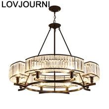 Touw Lamp Verlichting Lampara De Techo Colgante Moderna Suspension Loft Crystal Light Luminaire Suspendu Luminaria Hanglamp