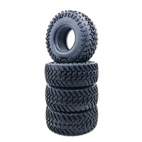 1:10 RC Tire 107MM Diameter 1.9 Inch Climbing Car Tires Simulation Climbing Tires for SCX10 90046 D90 TRX4 Rc Car 1:10 Parts