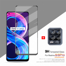 Sensitive Touch Tempered Glass for Realme 8 Pro Screen Protector & Camera Film Realme 7 5G Realmi 7 Pro Protective Glass on Realme 8Pro