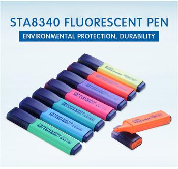 STA8340 fluorescencyjny długopis 8-kolor Kawaii fluorescencyjny długopis malowanie materiały biurowe szkolne materiały biurowe i szkolne markery 8340 tanie i dobre opinie CN (pochodzenie) Ukośne kształty LOOSE Normalne 8 kolorów pudełko Biuro i szkoła markery 10*2 1cm Eco-Friendly Material