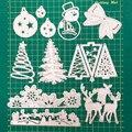 1 шт. металлические Вырубные штампы, Рождество, новинка 2020, вырубные штампы FEESTIGO для скрапбукинга, вырезанные штампы в виде рождественской е...