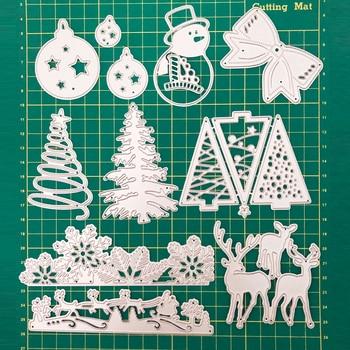 1 шт., металлические режущие штампы, рождественские, новые, 2020 год, для скрапбукинга, для скрапбукинга, для украшения рождественской елки, DIY т...