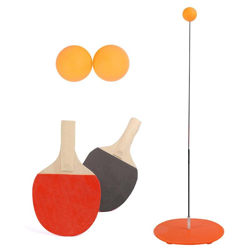 Portable Ping Pong Training Tool Soft Shaft Professional Practice Trainer Self-study Machine Table Tennis Ball Set Home Exercise