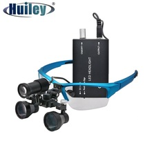 420-620 mm Dental Loupe 2.5X Binocular Magnifier Dental Glasses Surgical Operation Spotlight Head Light Long Working Distance