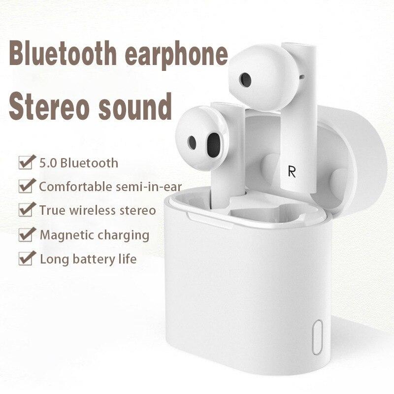 Fone de ouvido m6 bluetooth tws, verdadeiro, sem fio, binaural 5.0, estéreo, movimento, voz inteligente, anti-ruído