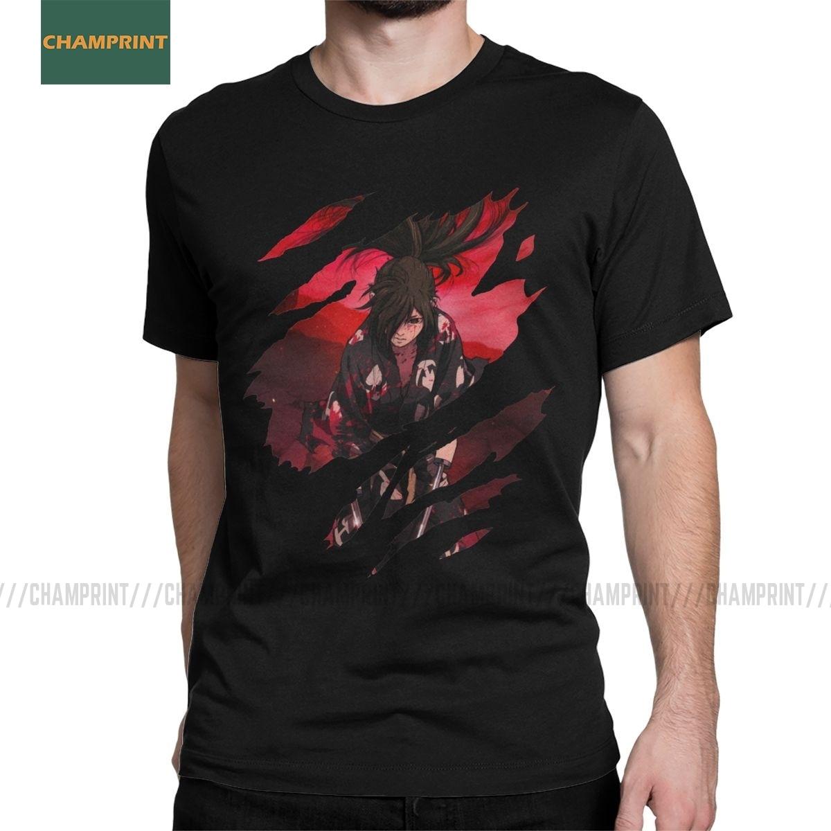 Men Hyakkimaru Dororo T Shirt Anime Manga Japan Otaku Samurai Sword Naruto Demon Cotton Short Sleeve Tees Birthday Gift T-Shirts