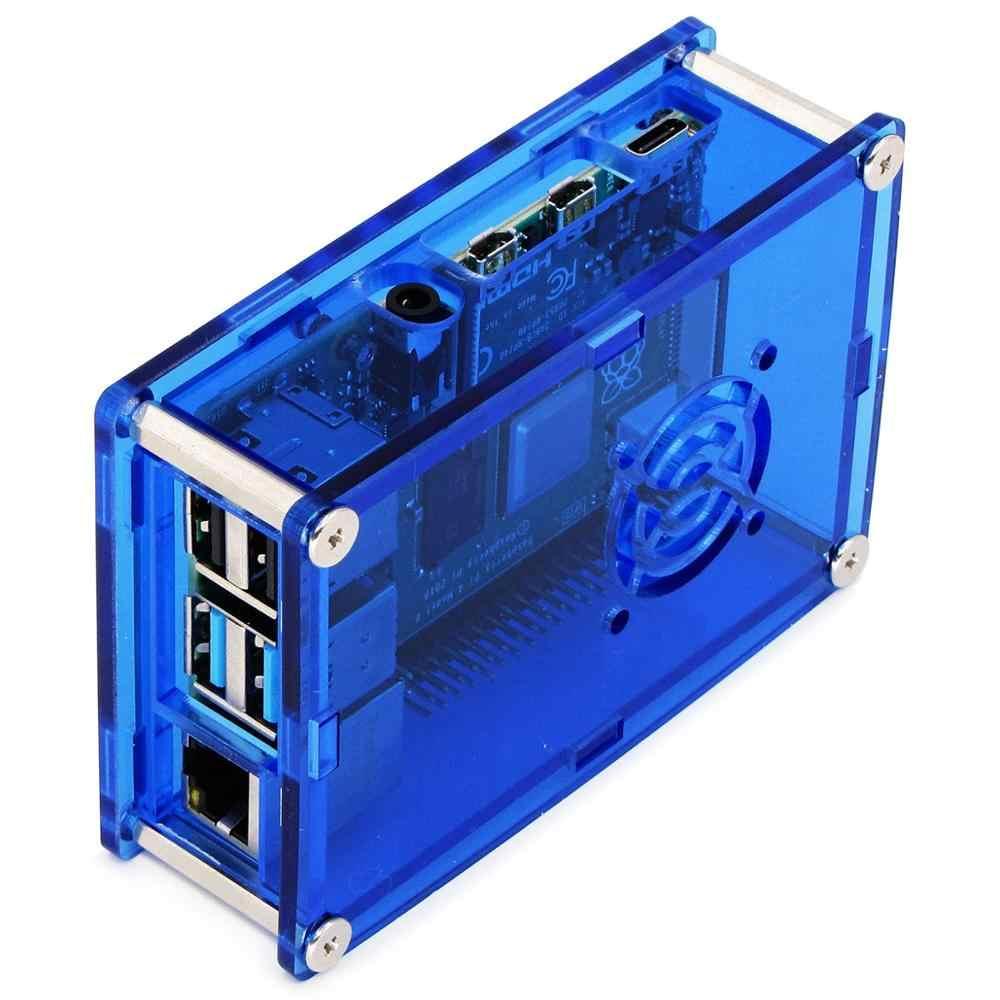 מקרה C3: ברור כחול פטל PI 4 מקרה תיבת PI4 דגם B 1 GB/2 GB/4 GB PMMA אקריליק כיסוי מעטפת מארז תיבת של פטל PI 4B