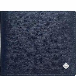 Portafogli Montblanc 4810 Westside pelle di colore blu 4 scomparti rif. 118657