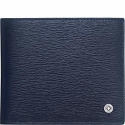 Portafogli Montblanc 4810 Westside pelle kleur blu 4 scomparti ref. 118657