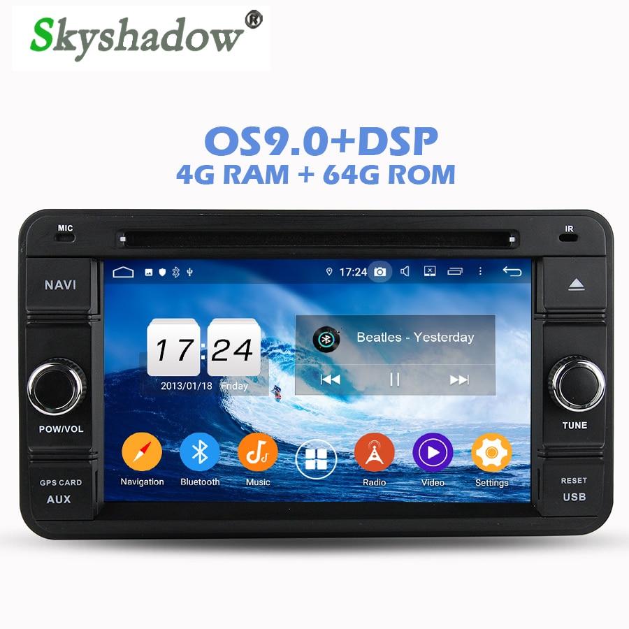 Top IPS DSP Android 9.0 4GB RAM 64GB ROM Car DVD Player Wifi 4G Bluetooth RDS RADIO GPS Map For SUZUKI Jimny 2007 2008 2009-2013 0