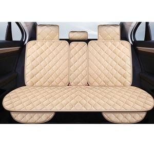 Image 1 - Universele Pluche Auto Seat Cover Winter Warm Faux Fur Auto Voorzijde Achterzijde Rugleuning Zitkussen Pad Interieur Accessoires Protector