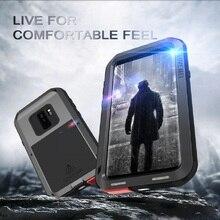 S10 Metal telefon kılıfı Için Samsung Galaxy S10 S9 S8 Artı Darbeye Dayanıklı Metal Zırh Kapağı Samsung S10E S9 S8 s10 5G S7 S6 Kılıfları
