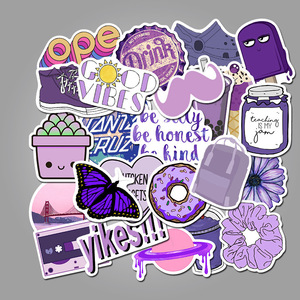 50PCS Cartoon Pink Style Girl Stickers For Laptop Skateboard Luggage Refrigerator Notebook Toy Sticker Anime Pegatinas Cute