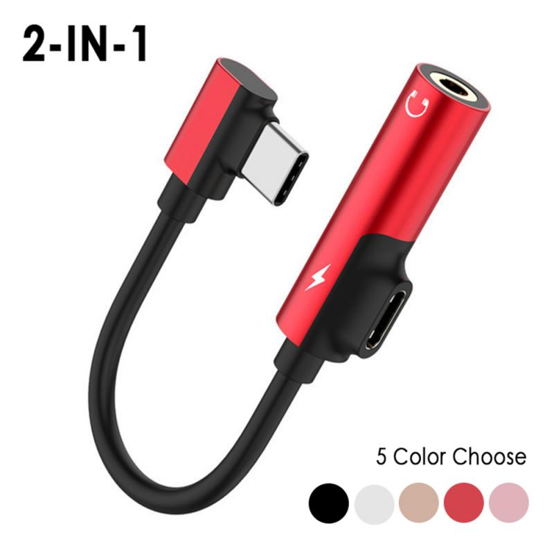 Fone De Ouvido Jack Splitter Adaptador De Áudio USB de Carregamento rápido Tipo C 3.5 milímetros Conector De Fone de ouvido Para Samsung Galaxy S8 S9 S10 E Plus