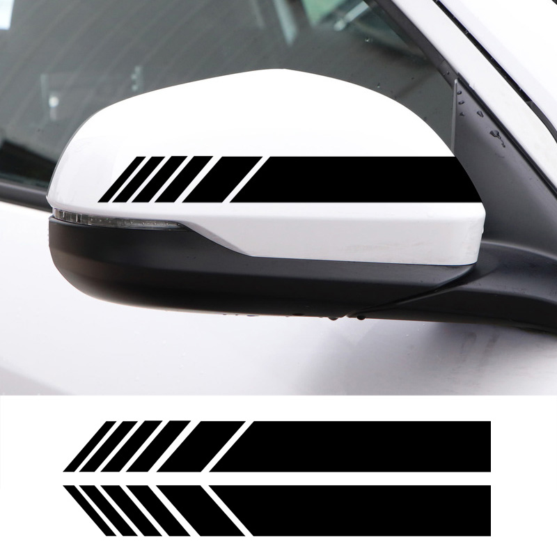 2pcs Car rearview mirror reflective decorative stickers for BMW <font><b>MINI</b></font> <font><b>Cooper</b></font> One S R50 R53 R56 R60 F55 <font><b>F56</b></font> Car styling image