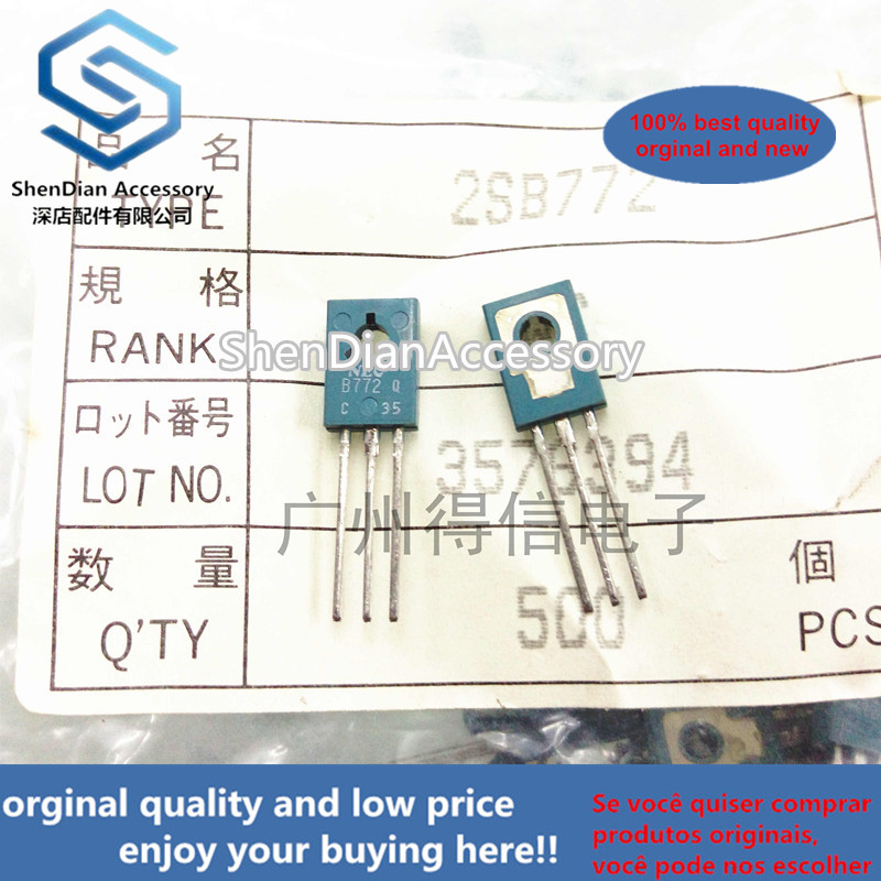10pcs 100% New And Orginal 2SB772Q B772 TO-126 PNP Silicon Medium Power Transistor In Stock