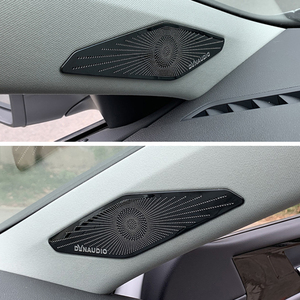Image 5 - Car Styling Accessories For Volkswagen Jetta A7 2019  Present A pillar Speaker Box Sequins Interior Frame Cover Auto Accessories