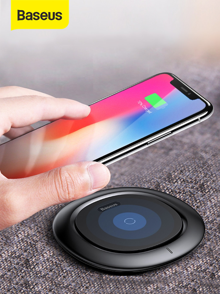 Baseus Wireless-Charger Charging-Pad Xiaomi iPhone For Samsung UFO 10W No 8-Xr-Xs Note
