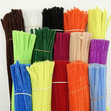 100pcs 30cm Chenille Stems Pipe Cleaners Kids Plush Educational Toy Colorful Pipe Cleaner Toys Handmade DIY Craft Supplies 100pcs chenille wire plush chenille stems iron wire diy art craft sticks party decor pipe cleaner 6mm x 12inch assorted colors