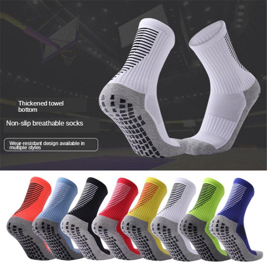 Профессиональные Нескользящие футбольные носки, дышащие, для баскетбола, фитнеса, тренажерного зала, компрессионные футбольные носки для взрослых