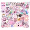 50 шт. Мультяшные Розовые наклейки для девочек, милые наклейки, водонепроницаемые наклейки для чемоданов, ноутбуков, велосипедов, шлемов, авт...